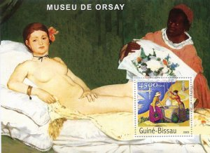 Guinea-Bissau MNH S/S Orsay Museum Nude Painting 2003
