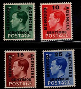 Great Britain, Morocco Scott 78-81 MNH** 1936 overprint set