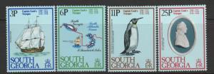 South Georgia, 1979 MNH Set Of 4, #'s 52-55