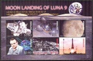 Guyana 2006 Space Moon Landing of Luna 9 Sheet MNH