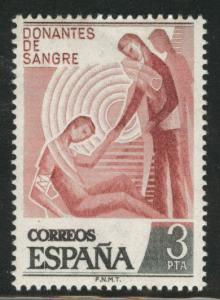 SPAIN Scott 1994 MNH** 1976 Give Blood campaign stamp