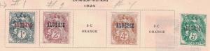 Algeria 1,2,4,& 6 -  Singles.  MH. OG.   #02 ALGER1