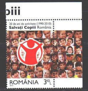 Romania. 2010. 6444. Childhood protection. MNH.