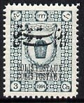 Iran 1915 Parcel Post 3ch fine mounted mint single with o...