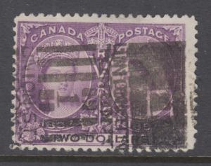 Canada Sc 62 used. 1897 $2 Jubilee, London, ONT. roller cancel, sound, F-VF