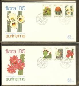 1985 - Rep. Surinam FDC E088AB - Flora - Cactusses - from Surinam [B33_102]