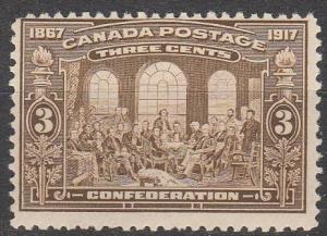 Canada #135 MNH  CV $120.00  (S7628)