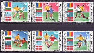 Romania. 1990. 4586-91. Football. MNH.