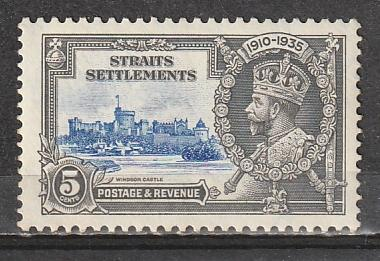 #213 Straits Settlement Mint OGNH Silver Jubilee Issue