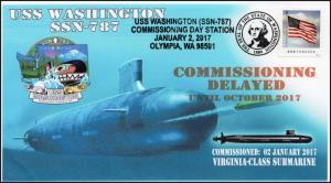 17-084, 2017, USS Washington,SSN-787, Submarine, Commissioning Delayed