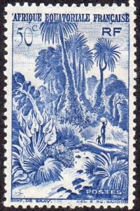 French Equatorial Africa 169 - Mint-H - 50c Jungle Scene (1947) (cv $0.80)