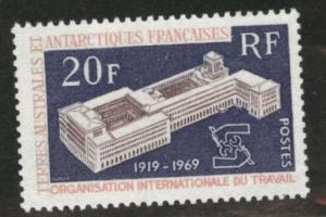 FSAT TAAF Scott 35 MNH** 1970 ILO Stamp CV$18.50