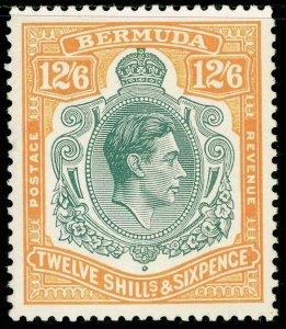 BERMUDA SG120e, 12s 6d grey & pale orange, NH MINT. Cat £100.