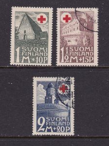 Finland the 1931 Red Cross set 1 MH & 2 good.fine/used