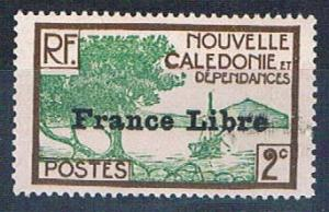 New Caledonia 218 MNH Bay of Paletuviers overprint 1941 (N0587)
