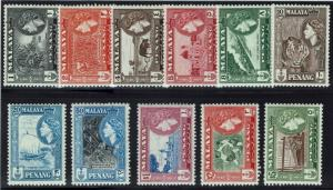 Penang SG# 44-54, Mint Never Hinged, 50, Mint Hinged -  Lot 013116