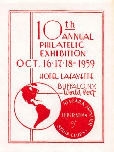 Buffalo, N.Y., 10th Annual Philatelic Exhibition, Oct. 16-18, 1959, Poster Stamp
