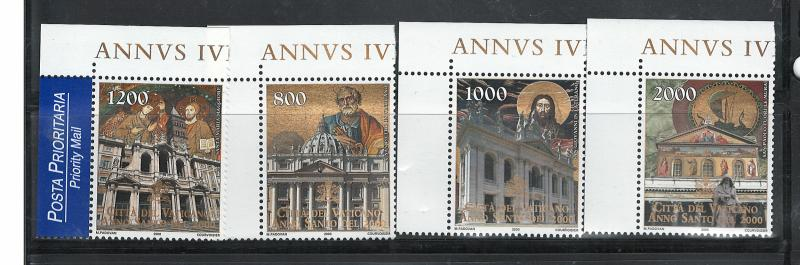 VATICAN 2000 HOLY YEAR  #1137 - 1140 MNH