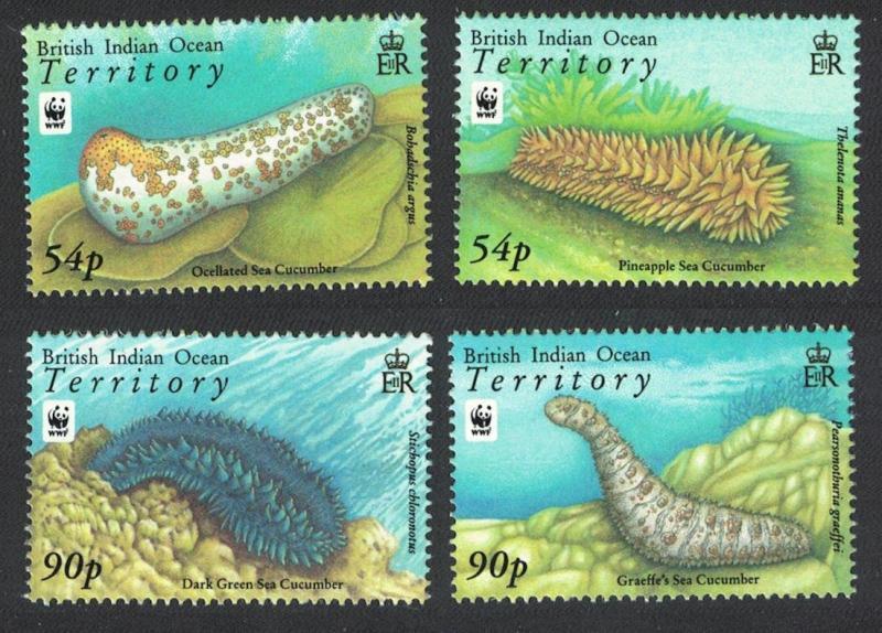 BIOT WWF Sea Cucumbers 4v SG#392-395 MI#470-473 SC#361-364