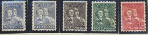 Poland Stamp Scott #477, 507A-10, Mint Hinged - Free U.S. Shipping, Free Worl...