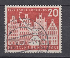 J28705, 1956 germany set of 1 used #741 building