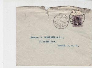 egypt 1939 man with hat stamps cover ref 20538