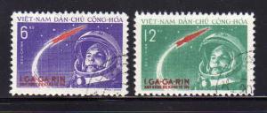 North Vietnam 160-161 Set U Yuri Gagarian's Space Flight (E)