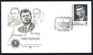ARGENTINA SC#760 President John F. Kennedy (1964) FDC