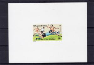 Wallis and Futuna 1990 Sc#391 World Cup Italy 1990 DELUXE SS IMPERFORATED MNH VF