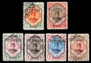 Iran Scott#501-502 + 510-513 OVERPRINTED IN BLACK - USED - CV$96.00
