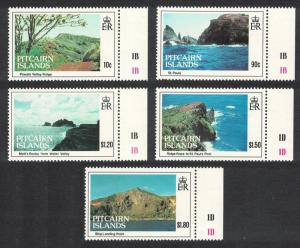 Pitcairn Island Views 5v with margins inscripts SG#431-435 SC#384-388
