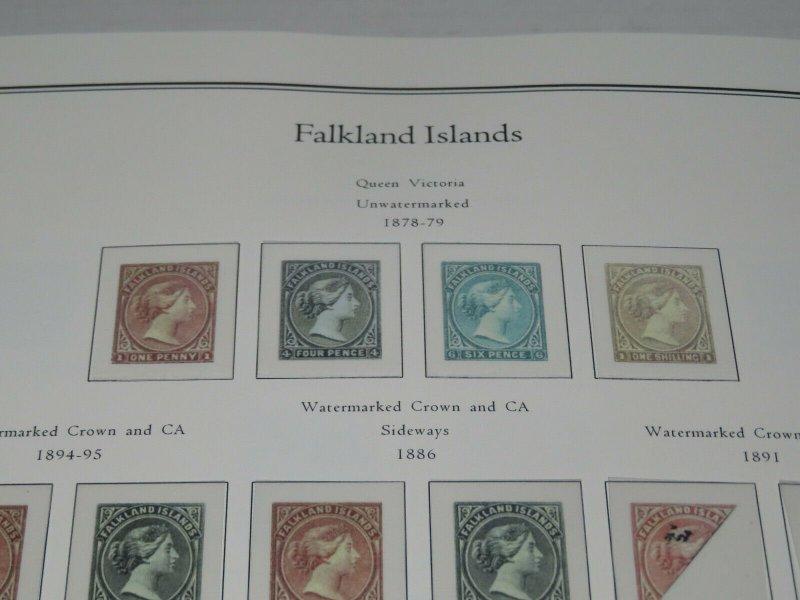 2 Palo Falkland Premium Albums Hingeless Color Pages 1878-2013 Retail $600+