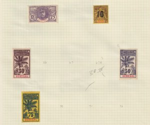 SENEGAL  INTERESTING COLLECTION ON ALBUM PAGES - Y348
