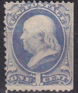 US #145 Unused Without Gum  CV $240.00   (Z1504)
