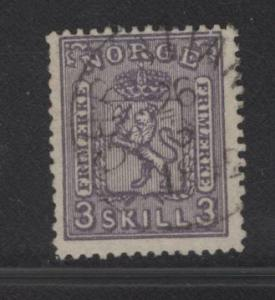 NORWAY  13  USED  1868  ISSUE
