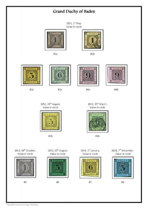 Germany German States 1849-1920 PDF(DIGITAL) STAMP ALBUM PAGES