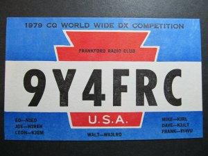 4262 Amateur Radio QSL Card Dxpedition Frankford Radio Club to Trinidad