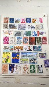 Collection of Belgium Stamps on 9 Album Pages. 25p per page.
