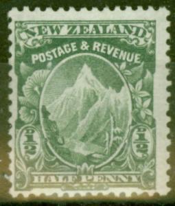 New Zealand 1907 1/2d Green SG377 Fine Mtd Mint