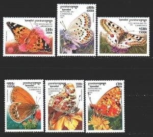 Cambodia. 1999. 1930-35. Butterflies. MNH.