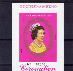 Timor (Ocussi-Ambeno) 1978 Coronation 25th.Anniv S/S (1) Imperforated MNH