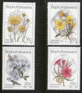 Bophuthatswana 1987 Wild Flower Trees Plants Flora Sc 192-95 MNH # 4287
