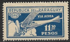PARAGUAY 1929-31 11.30p AIRPLANES IN FLIGHT Airmail Issue Sc C12 MH