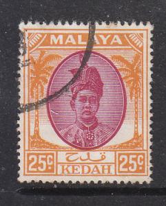 Malaya Kedah 1950 Sc 74 25c Used