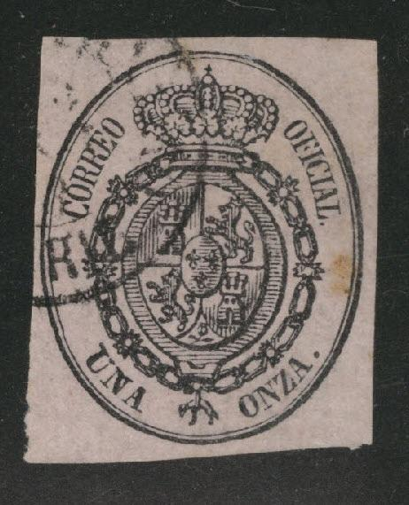 SPAIN Scott o6 Used Official Stamp 1855-63