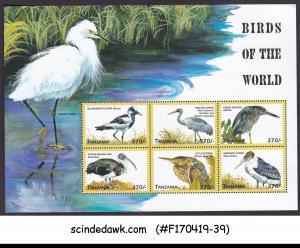 TANZANIA - 1999 BIRDS OF THE WORLD / STORK HERON - MIN/SHT MNH
