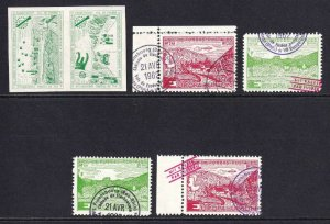 EUROPA UNITY PRIVATE PRINT ROCKETMAIL IMPERF PAIR AND 4 SINGLES OG NH U/M VF