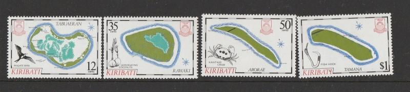 Kiribati 1985 Island Maps 4th Series UM SG 237/40