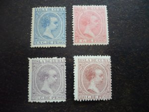 Stamps - Cuba - Scott# 134,138,142,152 - Mint Hinged Set of 4 Stamps