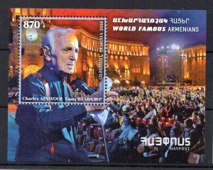 ARMENIA - 2018 - CHARLES AZNAVOUR - WORLD FAMOUS ARMENIANS - SINGER -